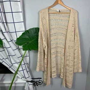 Akemi and Kin Anthropologie Crochet Cardigan